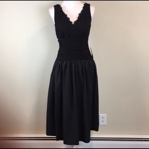 Coldwater Creek Dress Size 8 Black Gown Sleeveless